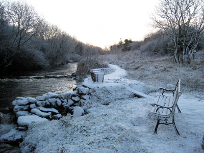 glore mill in the winter